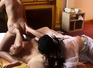 Asian slave blowjob